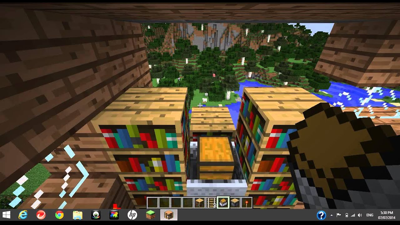 How to make a working bookshelf in Minecraft! - How To Make A Working Bookshelf In Minecraft! - YouTube