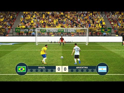 BRAZIL vs ARGENTINA | Penalty Shootout | Neymar VS Messi | PES 2019 Gameplay PC