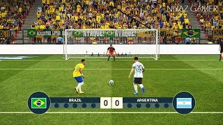 BRAZIL vs ARGENTINA | Penalty Shootout | Neymar VS Messi | PES 2019 Gameplay PC