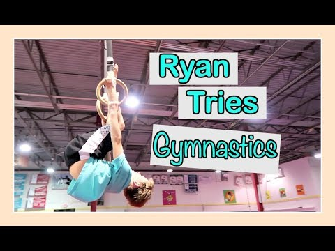 RYAN TRIES GYMNASTICS👏 | Flippin' Katie