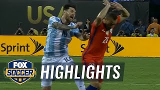 Argentina vs. Chile | 2016 Copa America Final Highlights by : FOX Soccer