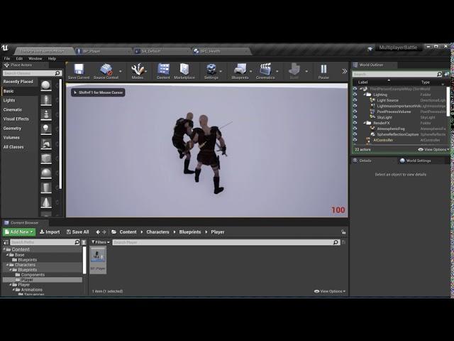 Добавление звуков | Создание мультиплеерной игры на Unreal Engine 4 - #9