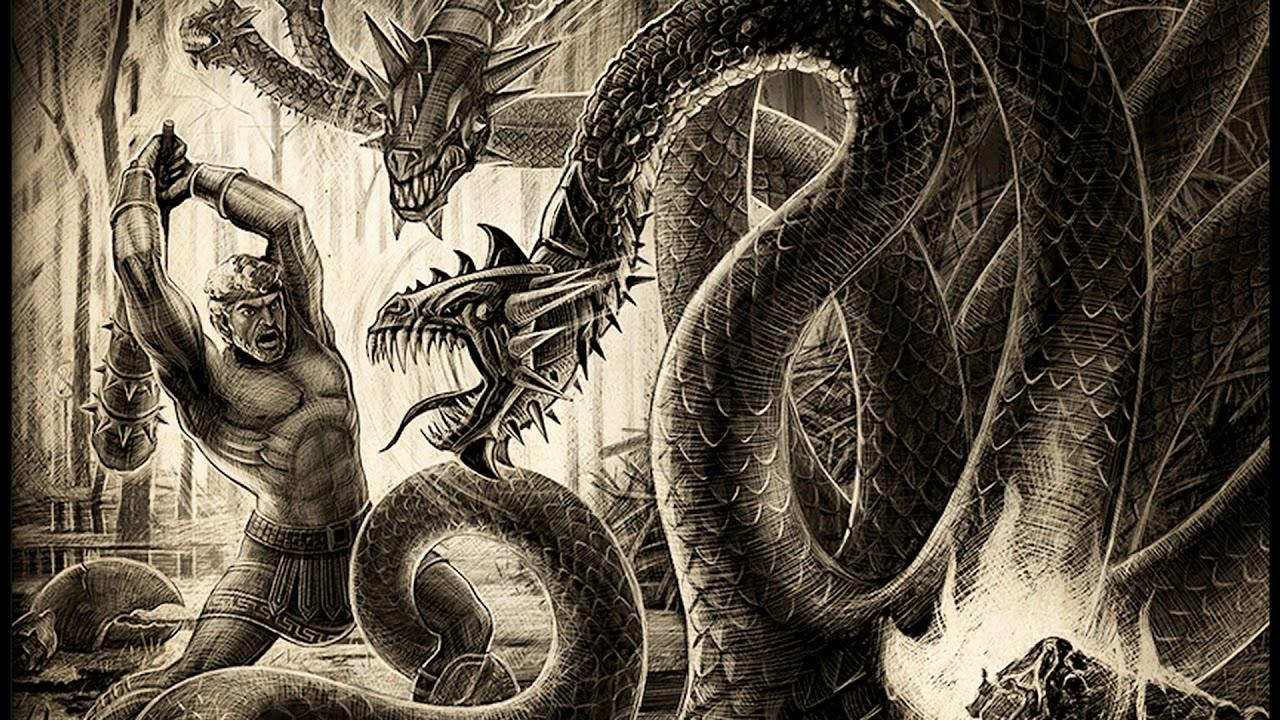 Геракл уничтожает лернейскую гидру картинки про