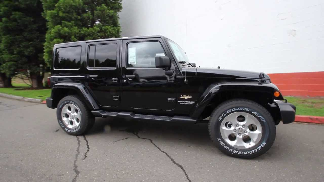 el128375 2014 jeep wrangler unlimited sahara kirklanddcj black youtube. Black Bedroom Furniture Sets. Home Design Ideas