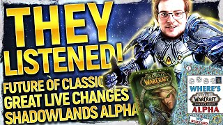 Blizz Just 180'd ANOTHER Bad Decision! TBC Classic CONFIRMED?! Shadowlands Alpha Impending | NEWS