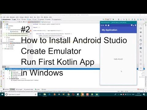 How To Install Android Studio - Create Emulator - Run First Kotlin App #2