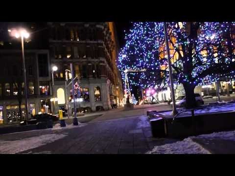 A Walk Along the Sparks Street Mall in Ottawa at Night -- Panasonic G5