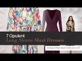 7 Opulent Long Sleeve Maxi Dresses Amazon Maxi Style Collection 2017