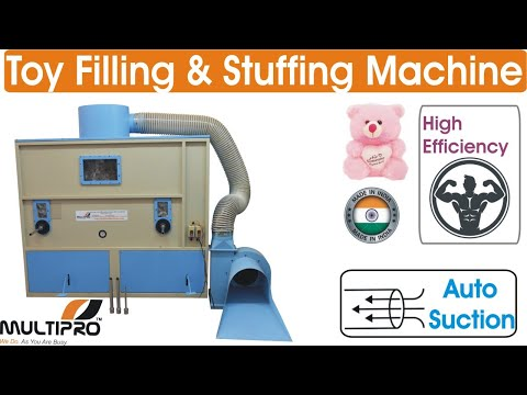 Multipro Soft Toy Stuffing Machine For Filling polyester In Plush Toys, Teddy Bear, Doll, Animals