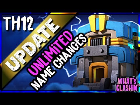 NAME CHANGES, CLAN CASTLE SLEEP MODE And More COMING | WHAT'S CLASHIN' | Clash Of Clans TH12 Update