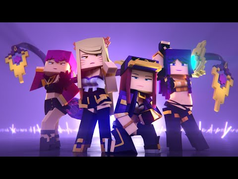 K/DA - POP/STARS MINECRAFT VERSION | Music Video - League Of Legends