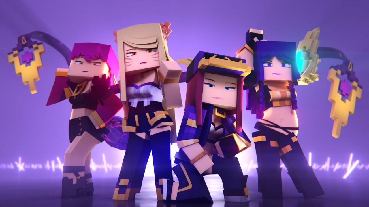 K Da Pop Stars Minecraft Version Music Video League Of