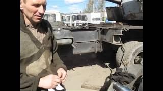 Жөндеу гидравликалық тіреулер (аяқтары) автокран өз қолдарымен. Кран КС 35-75А.