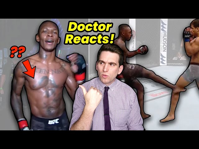 Israel Adesanya's Chest & His PERFECT Leg Kicks! Doctor Reacts to UFC 253