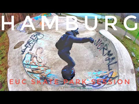 HAMBURG - Electric Unicycle Skate Park Session - Inmotion V8
