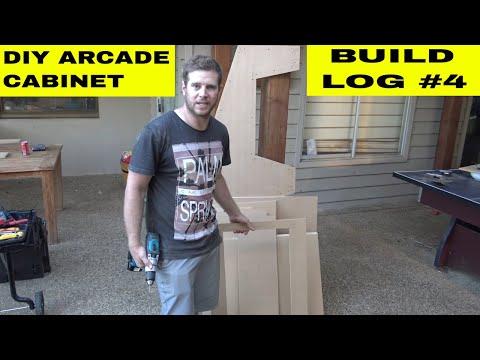 Ladcade - US $200 Homemade Arcade Machine (Building the cabinet.) (Build log #4)