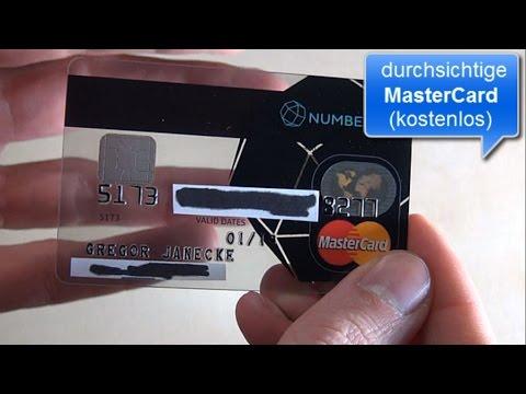 Durchsichtige MasterCard kostenlos bei Number26