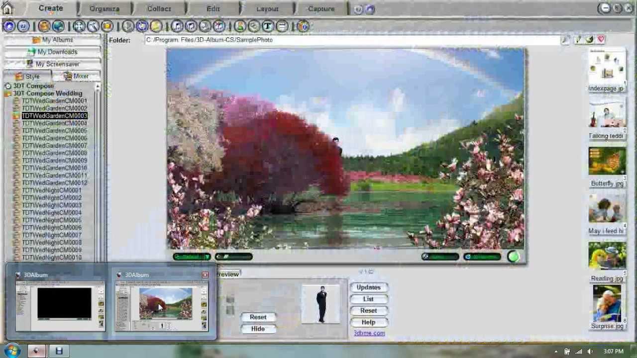 Cara Edit Foto Dengan 3D Album CS3 29