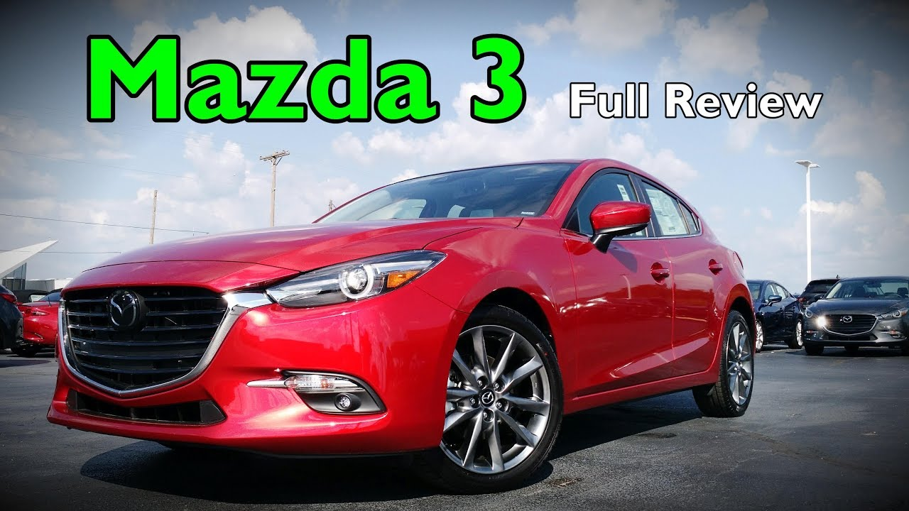 2018 mazda 3 hatchback full review grand touring touring sport youtube. Black Bedroom Furniture Sets. Home Design Ideas