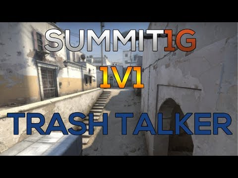 CS:GO 1v1  SUMMIT1G vs TRASH TALKER! [ de_dust2 ]