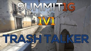 CS:GO 1v1 ● SUMMIT1G vs TRASH TALKER! [ de_dust2 ]