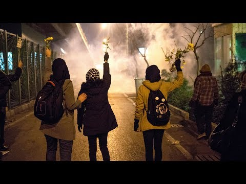 Iran protests: Crowds