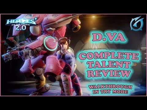 Grubby | Heroes of the Storm 2.0 - D.Va Complete Talent Review - (Try Mode)