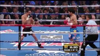 round 2 highlights manny pacquiao vs juan manuel marquez iii
