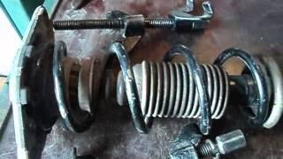 Ниссан примера р12 снятие и ремонт задней стойки подвески
