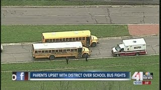 Ambulance called after school bus fight