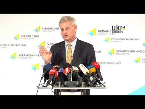 Carl Bildt. Ukrainian Сrisis Media Center. May 16, 2014