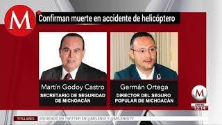 Mueren funcionarios tras desplome de helicóptero en Michoacan