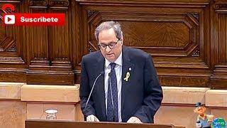 Discurso de Investidura de Quim Torra que ha iniciado reivindicando a Puigdemont