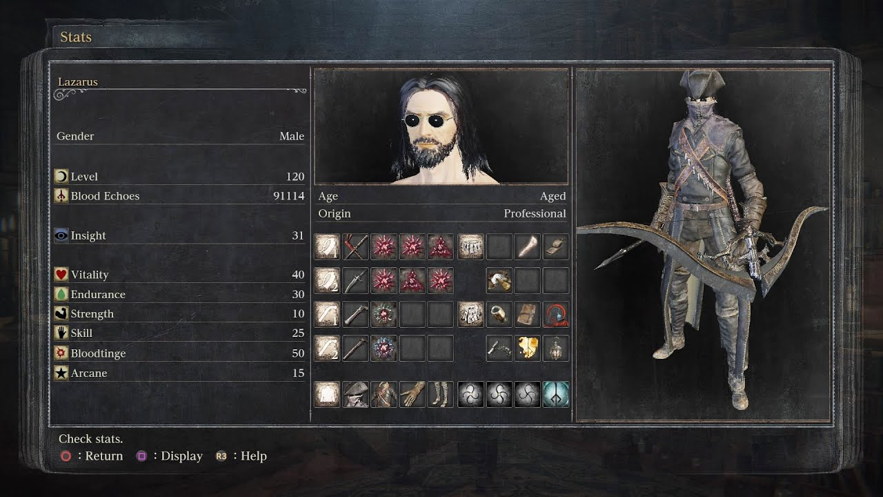 bloodborne simon s bowblade level 120 pvp builds youtube