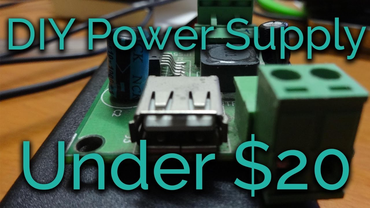 DIY 5v 3A PSU Under $20 for Raspberry Pi and other SBC