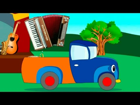 Truck and musical instruments Cartos for Kids