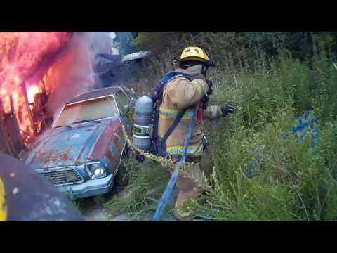 house fire and car fire on Firecam mini 1080p