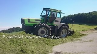 Fahrsiloaction mit Deutz-Allis DX 430 Prototyp