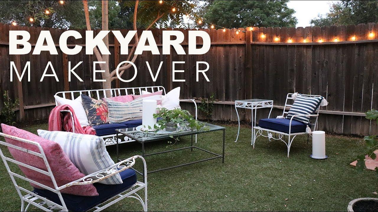 Backyard Patio Makeover -- Budget Friendly & Quick | # ...