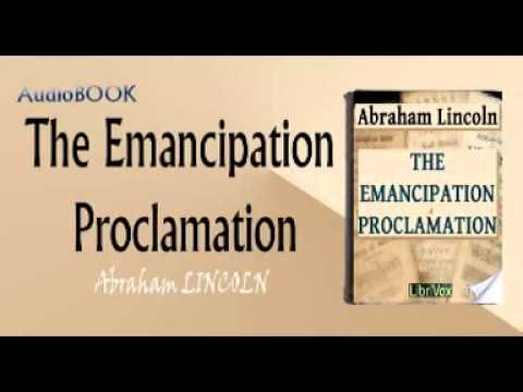 The Emancipation Proclamation Audiobook Abraham LINCOLN