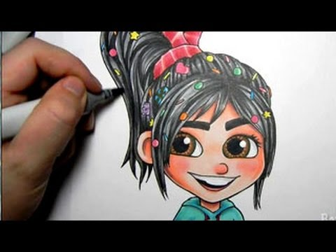 Vanellope Von Schweetz Copic Marker Illustration Youtube