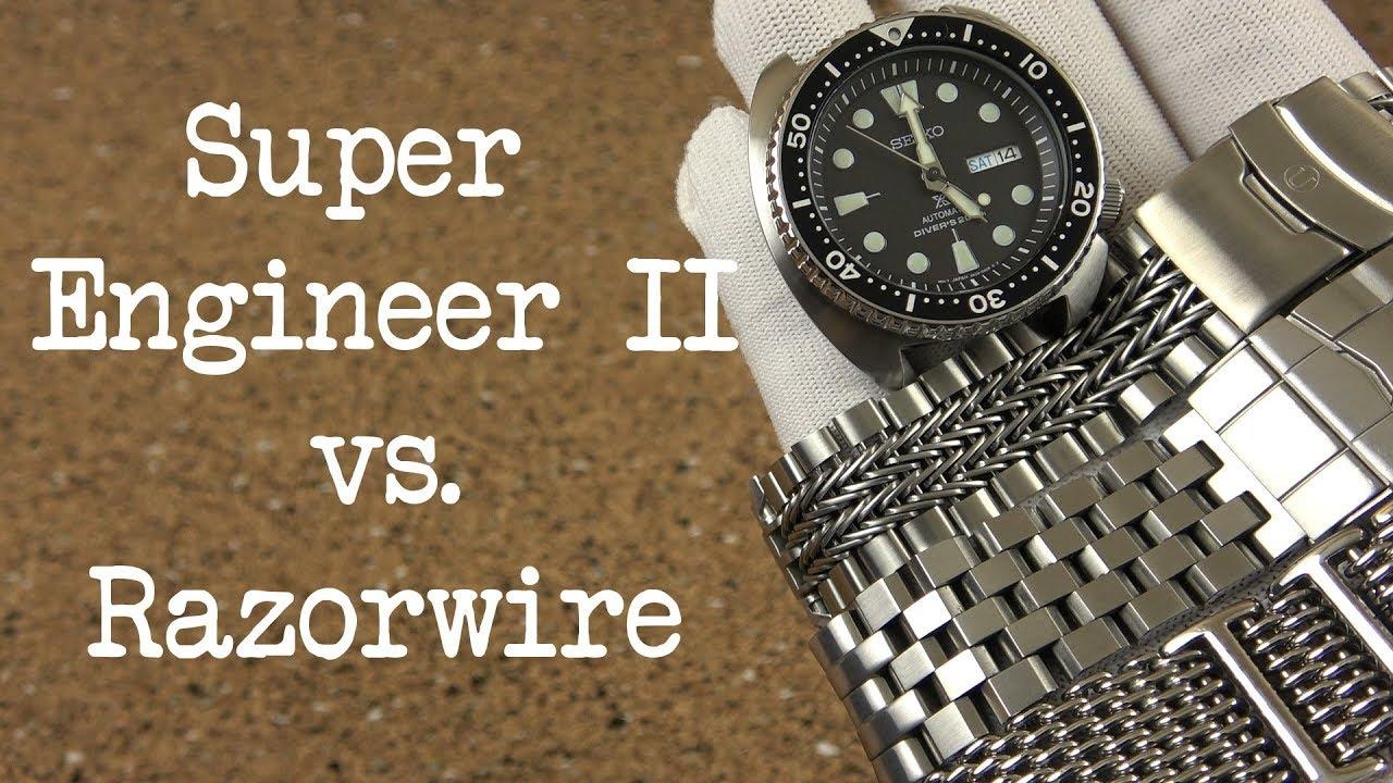 kauneus säästää jopa 80% hyvä laatu Strapcode Super Engineer II vs. Uncle Seiko Razorwire on the Seiko Turtle