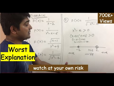 Domain and range of a function in Hindi. Example  part- 1