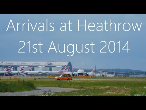 Planes Landing at Heathrow Airport [August 2014]