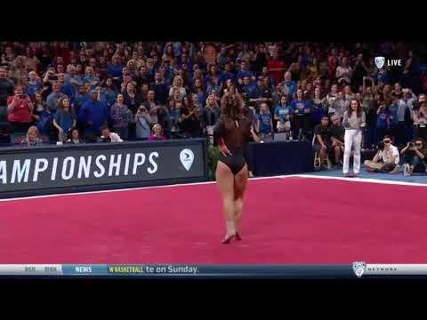 UCLA gymnast Katelyn Ohashi performs perfect 10 Michael