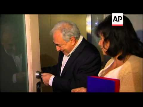 Former IMF Chief Dominique Strauss-Kahn and his wife returned to their New York City home, but had t