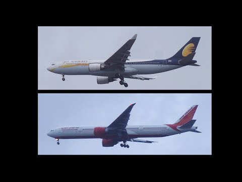 Most Congested Air Route of India!!! Wide Body Aircraft of Jet Airways and Air India…