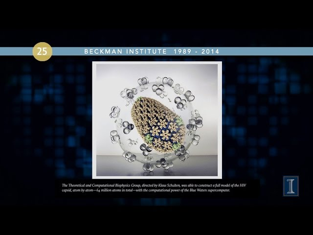 A screenshot from Beckman Institute 25th Anniversary Slide Show