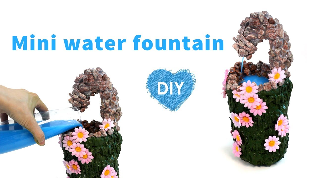 Terra cotta fountain how to build menards youtube - How To Make A Mini Water Fountain Diy