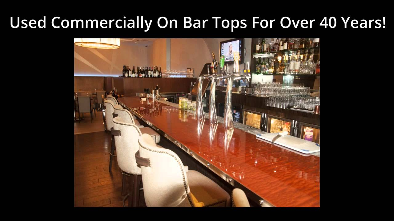 Bar top epoxy envirotex lite pour on epoxy pour on for Best bar top finish